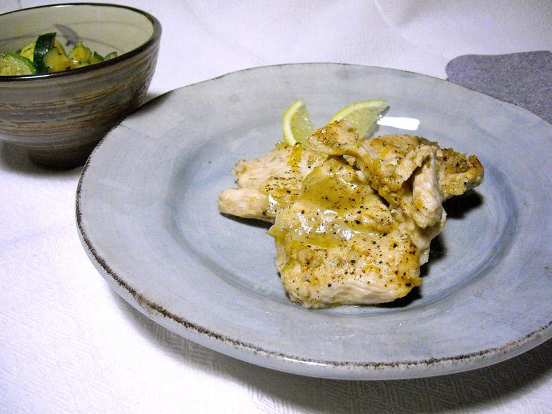 pollo al limone cotto al forno