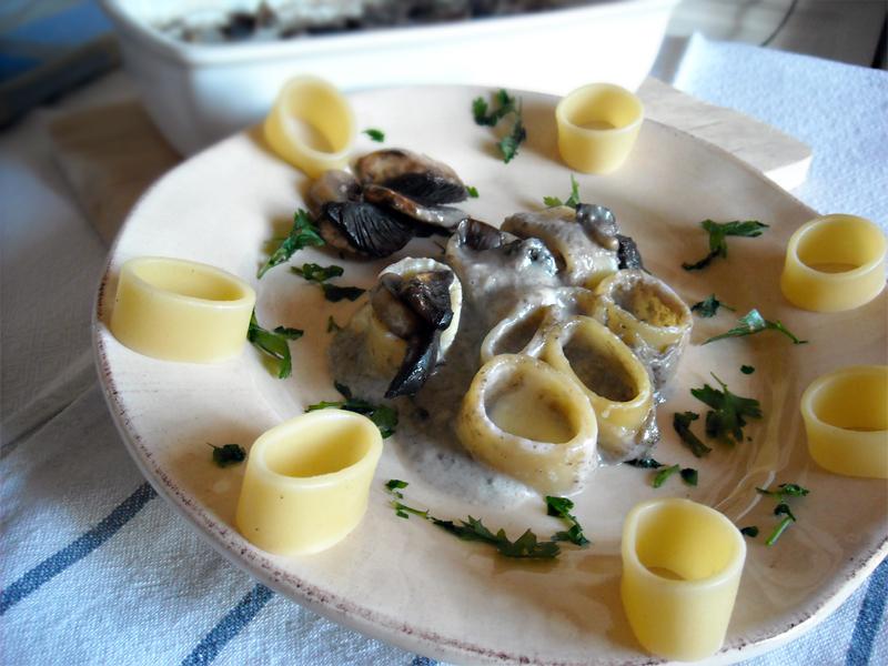 sformato di calamarata ai funghi