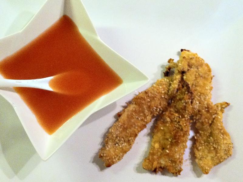 Pollo crumble croccantissimo in salsa agrodolce