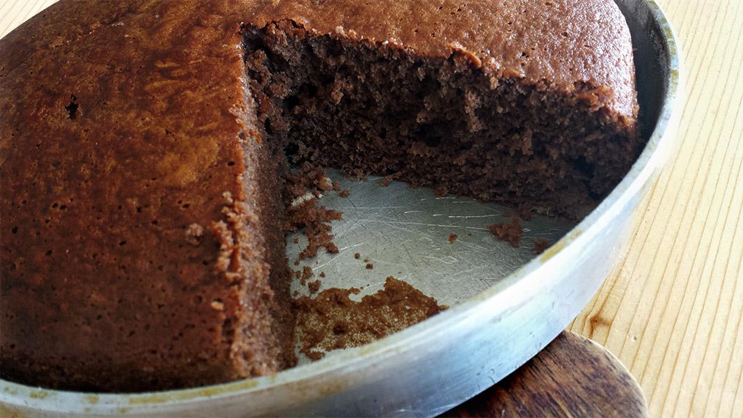 Torta cioccolato e banane, morbida e profumata