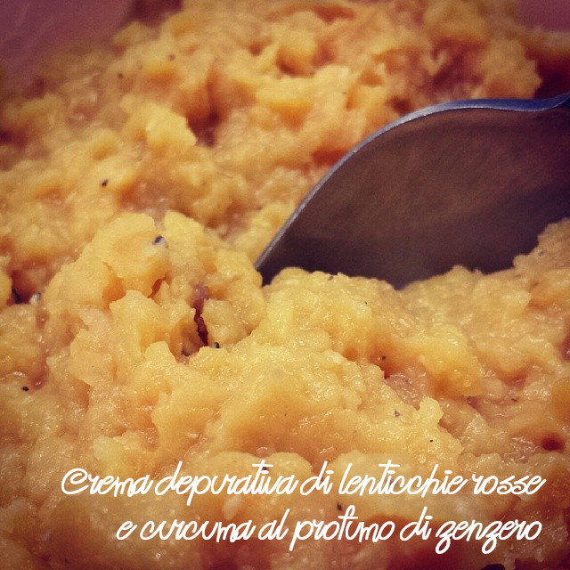 Crema depurativa di lenticchie rosse e curcuma al profumo di zenzero